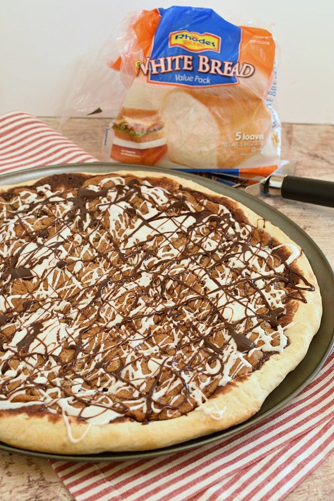 Cookie Dough Dessert Pizza-kids love it