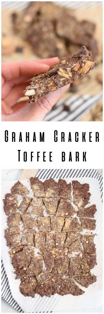 Easy Graham Cracker Toffee Bark No Bake Dessert Candy Easy Recipe Snack