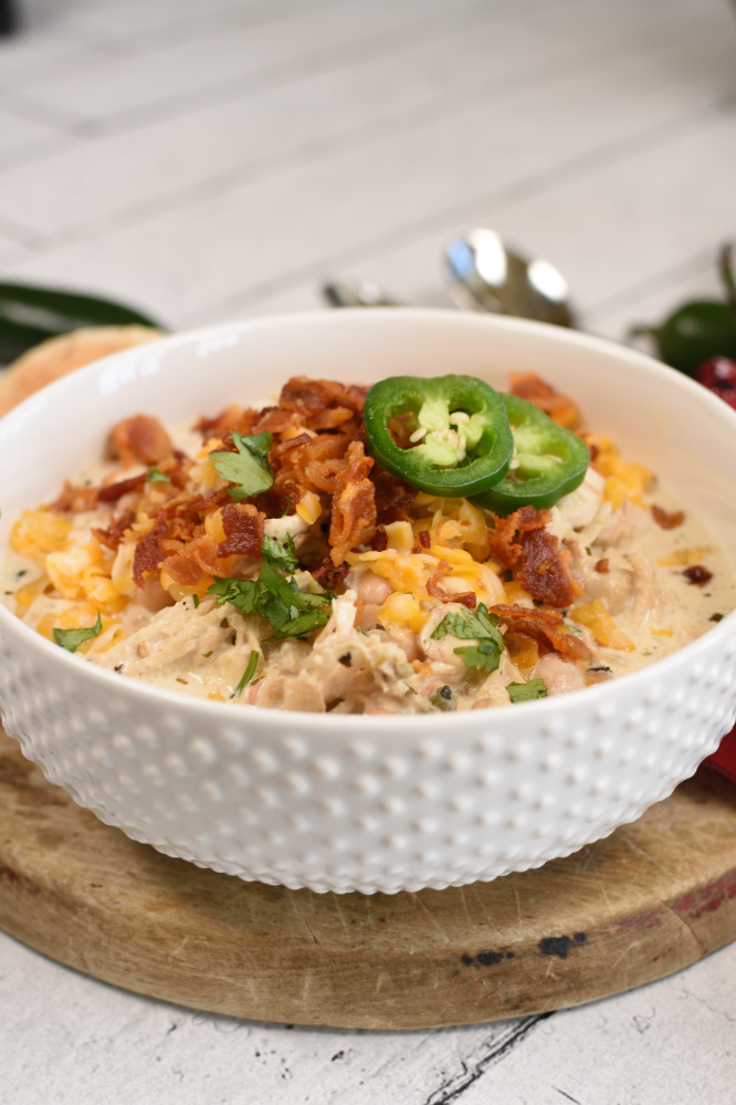 Jalepeno Popper Chicken Chili - pressure cooker