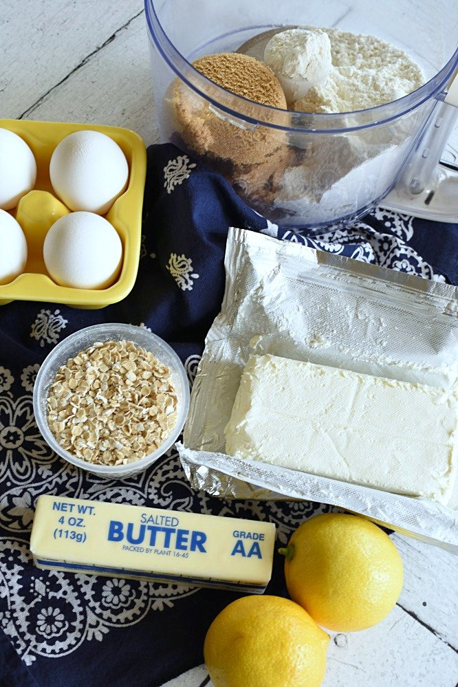 Lemon Cheesecake Crumb Bars- dairy products