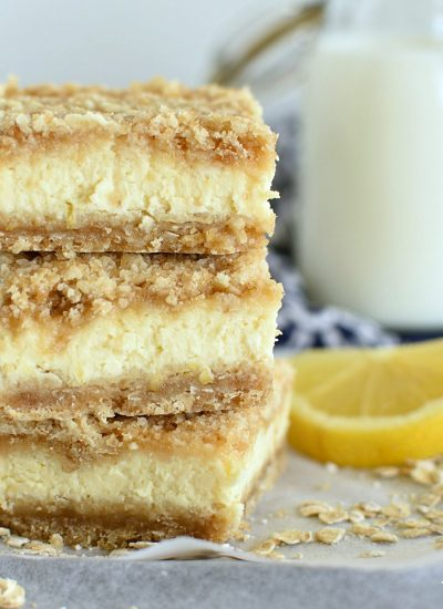 Lemon Cheesecake Crumb Bars- featured image