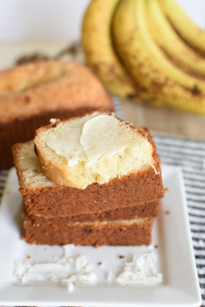 Coconut Banana Bread - one bowl
