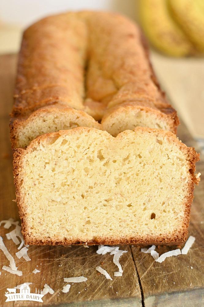 Coconut Banana Bread - use ripe bananas