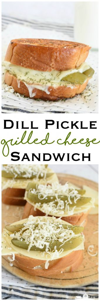 Dill Pickle Grilled Cheese Sandwich comfort food parmesan dill crust lunch #ad #Dairywest #UndeniablyDairy