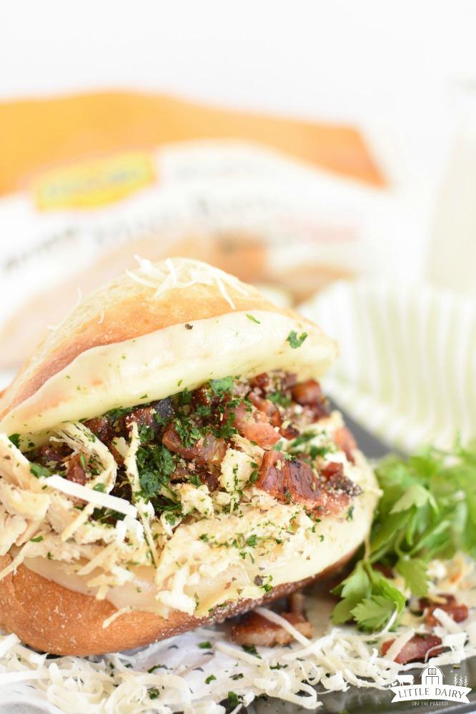 Italian Chicken Bacon Sandwich- a hearty toasted sammie
