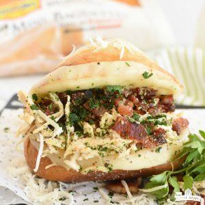 Italian Chicken Bacon Sandwich in a casserole dish