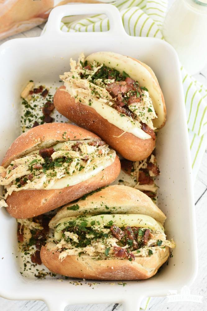 Italian Chicken Bacon Sandwich- make ahead