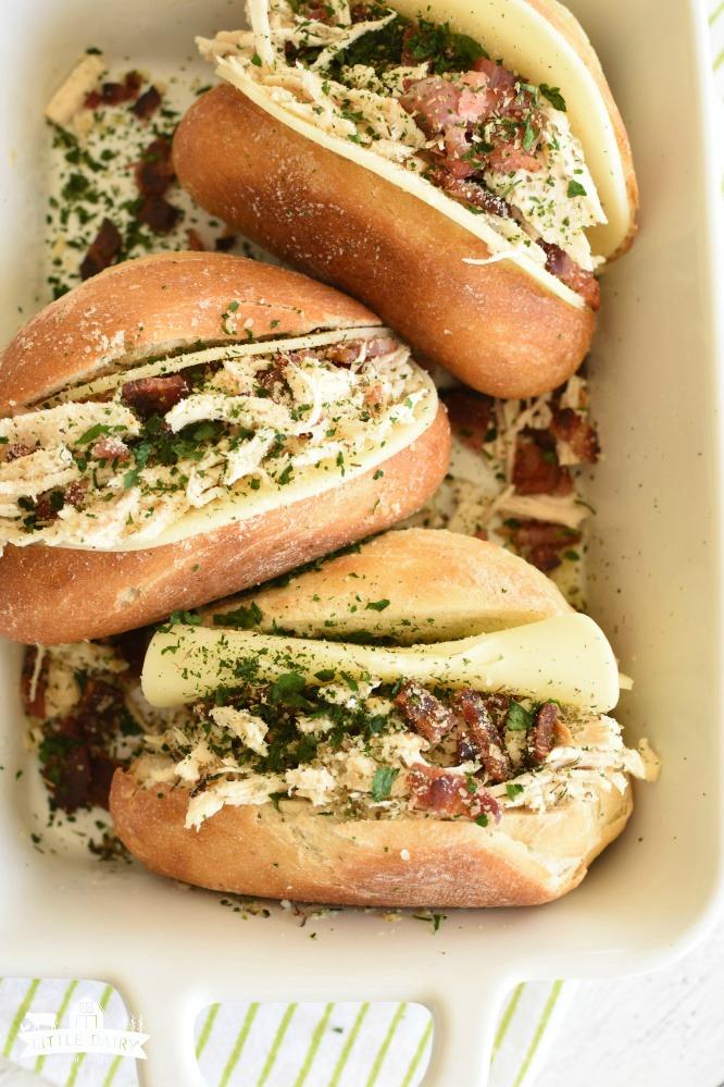 Italian Chicken Bacon Sandwich- sub, hoagie