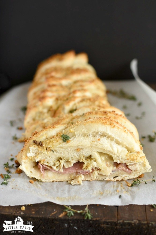 Chicken Cordon Bleu Braid - easy version