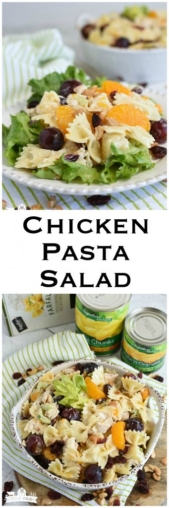 Chicken Pasta Salad a make ahead salad perfect for BBQs, picnics, etc. Easy and always a hit. AD#MySignatureSummer