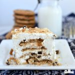 No Bake Chocolate Chip Cookies and Cream Icebox Cake