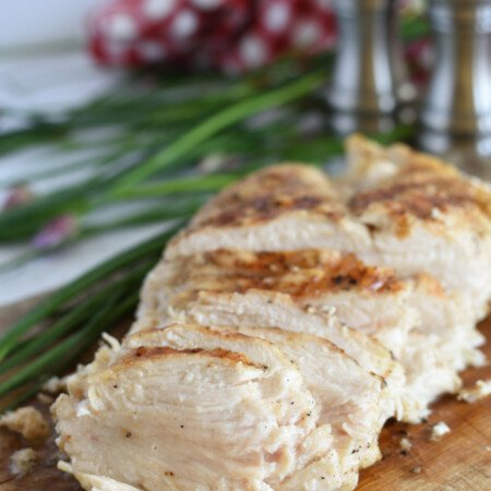 3 Ingredient Grilled Chicken - slice it and add it to salads, pasta, pizza, quesadillas