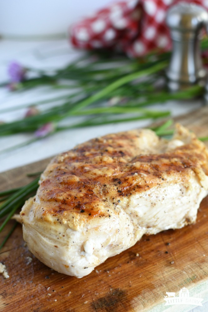 3 Ingredient Grilled Chicken - use it in recipes later