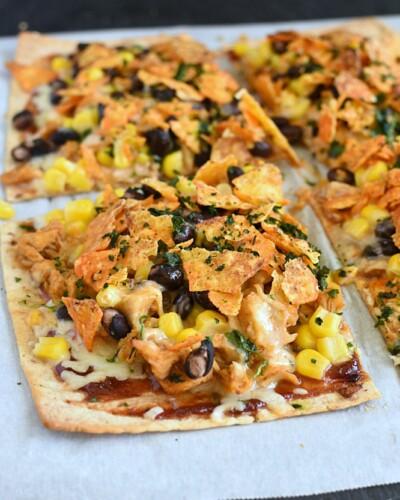 Chicken Taco Pizza - taco tuesday