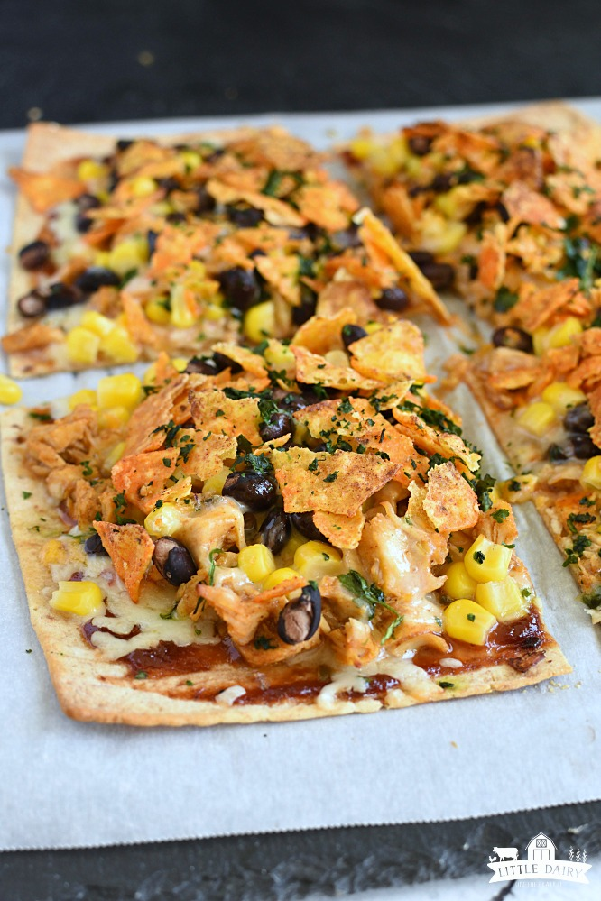 Chicken Taco Pizza - taco tuesday