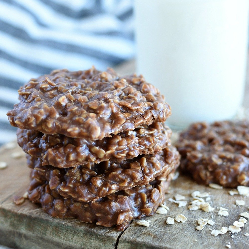 Classic Chocolate Peanut Butter No Bake Cookies Little Dairy On