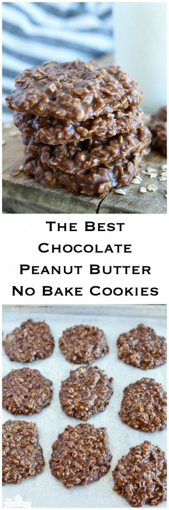 The Best Chocolate Peanut Butter No Bake Cookies - a simple little trick for making this classic perfect everytime! www.littledairyontheprairie.com #cookies #chocolate #peanutbutter #nobakecookies #nobake #desserts #easyrecipe #oats #treats #recipe #yummy #tipsandtricks