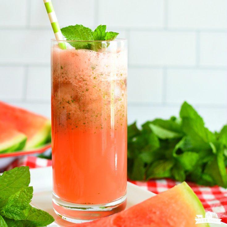 Slushy Watermelon Mint Lemonade