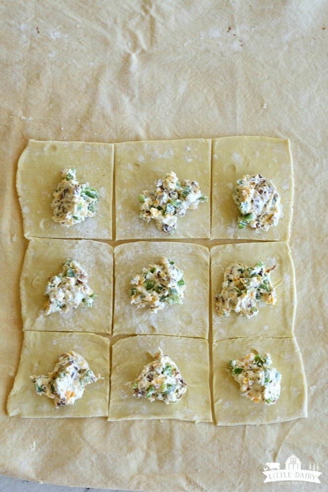 Use puff pastry to make jalapeno popper turnovers.