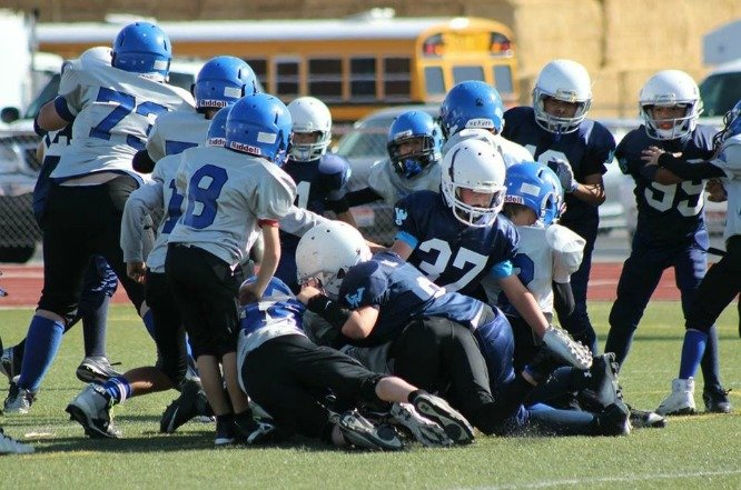Payson playing football