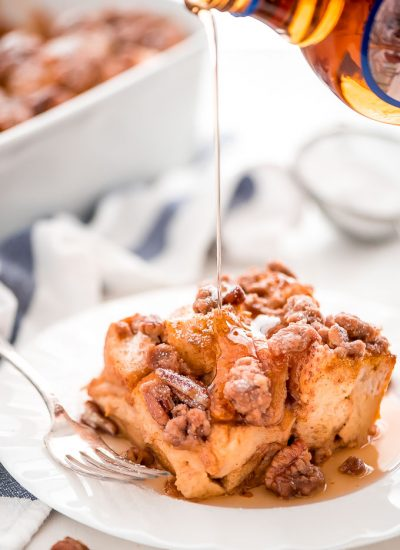 Pumpkin french toast with syrup