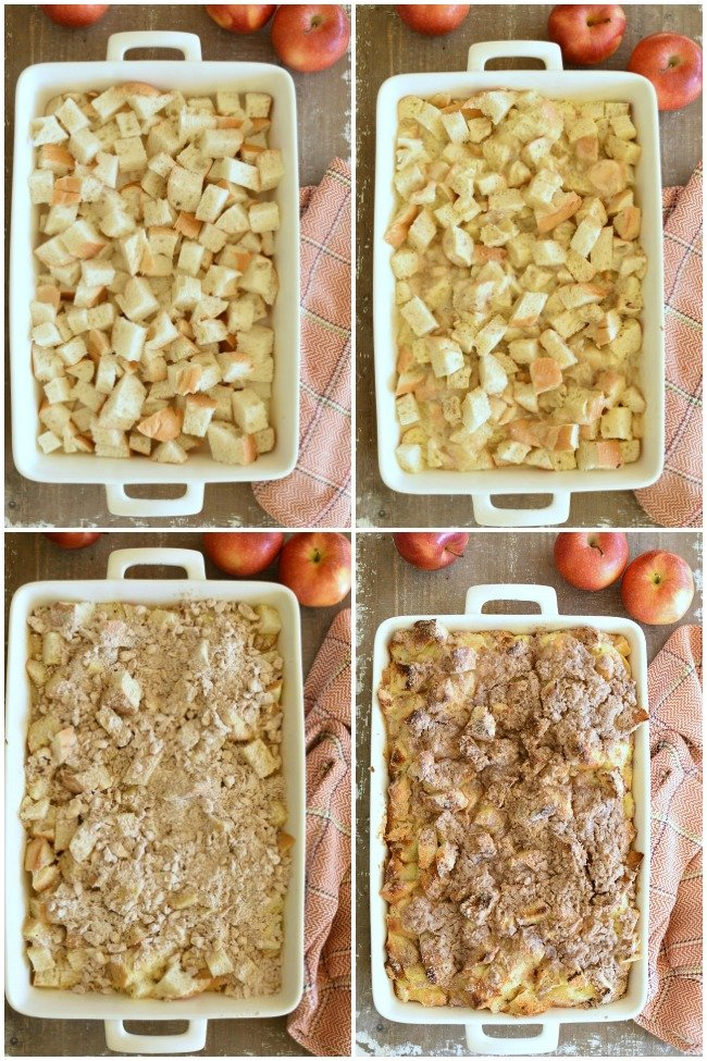 step by step photos of baked french toast