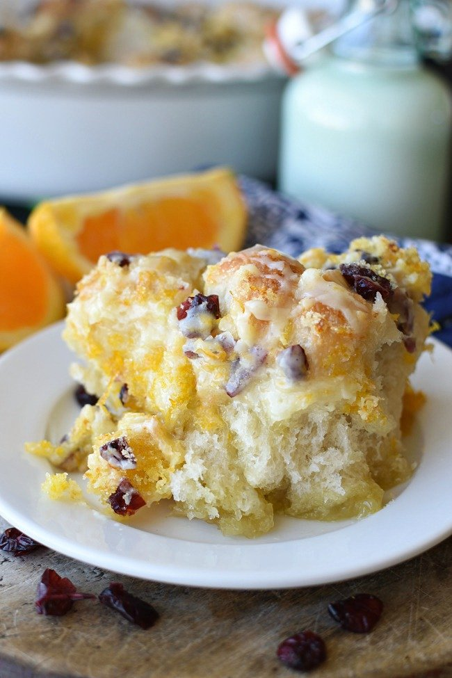 baked easy cranberry orange monkey bread with icing