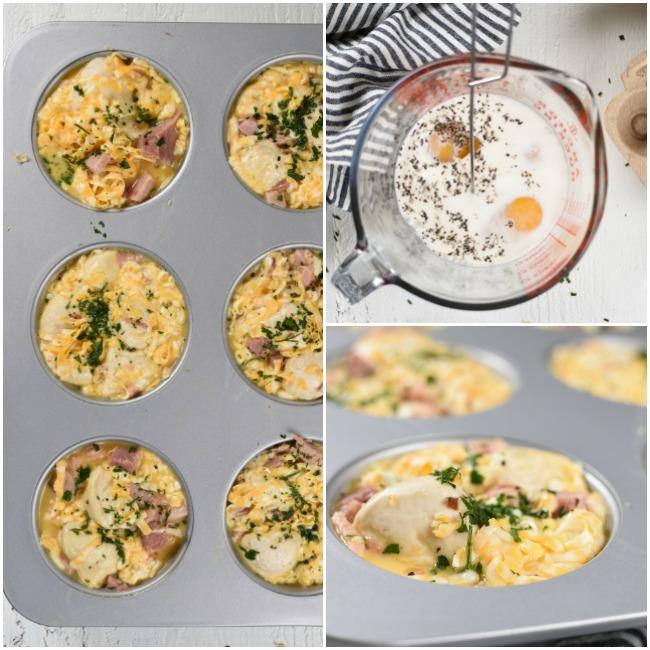 adding eggs to pull apart bread