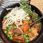 Hearty Beef Stew made in the Slow Cooker