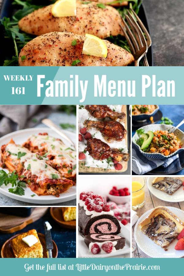 a collage with menu planning recipes