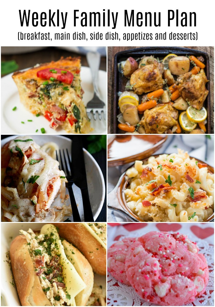 a pinterest collage of food images