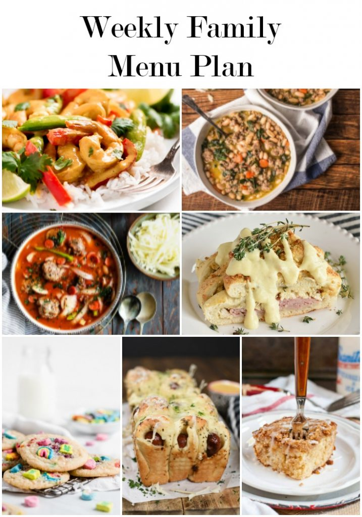 a pinterst collage with meal planning recipe photos