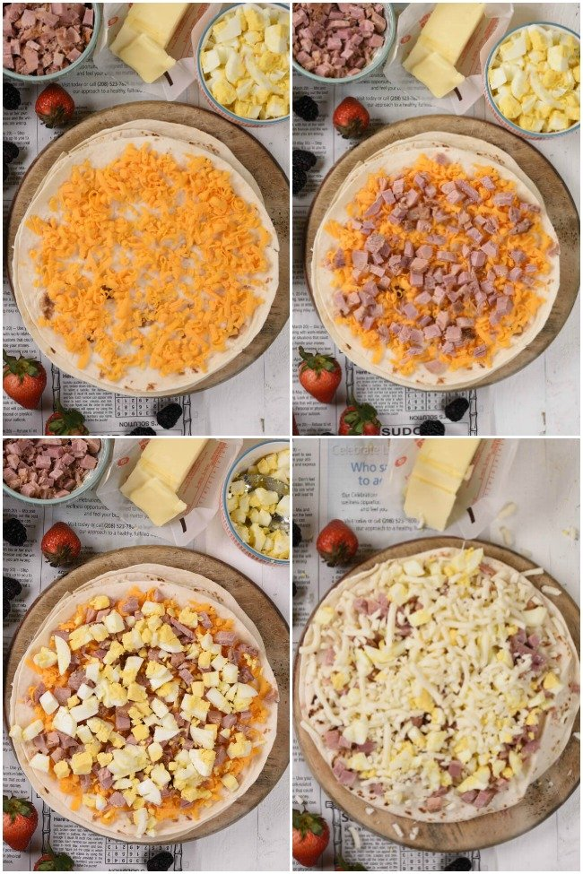 a collage with images of how to make quesadillas