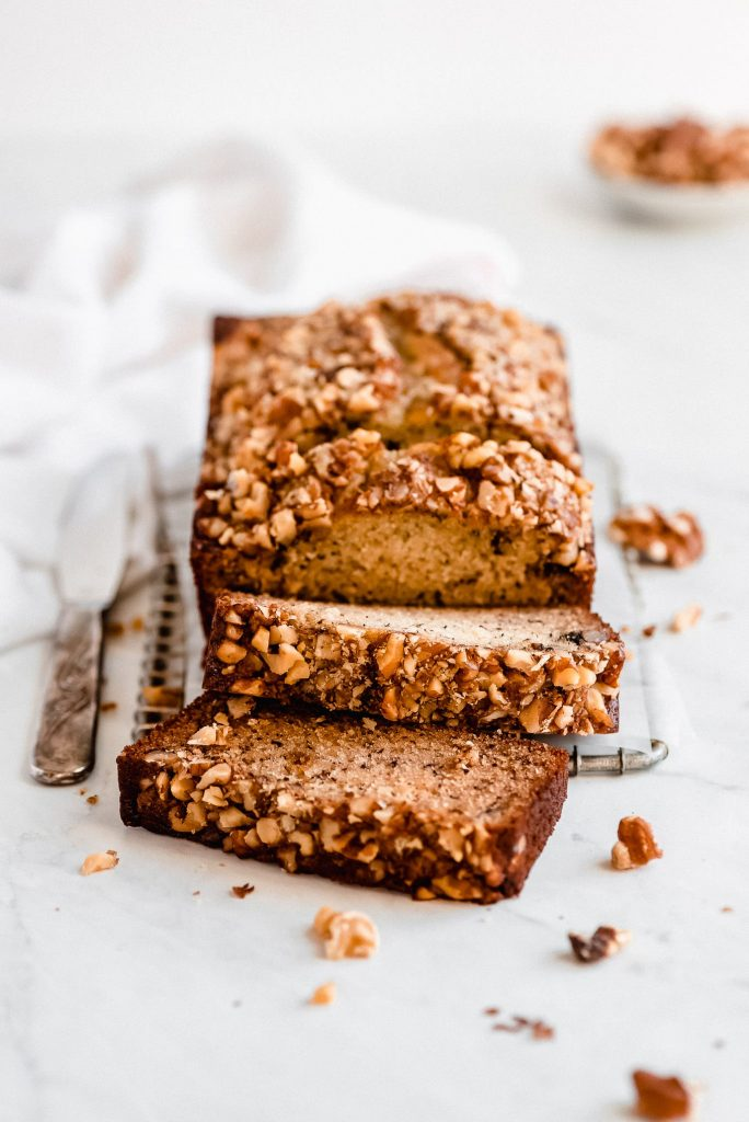 The BEST Banana Nut Bread - Garnish & Glaze