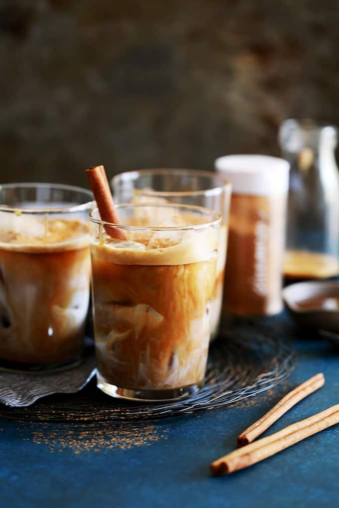 Iced Cinnamon Almond Milk Macchiato