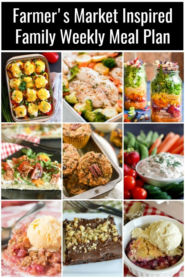 a collage of farmers market recipes