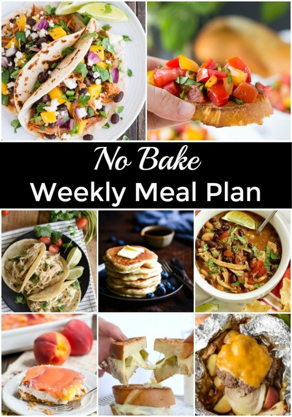collage with no bake meal images