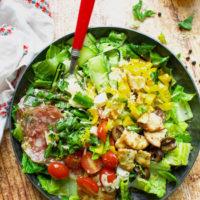 Pizza Salad with Vinaigrette