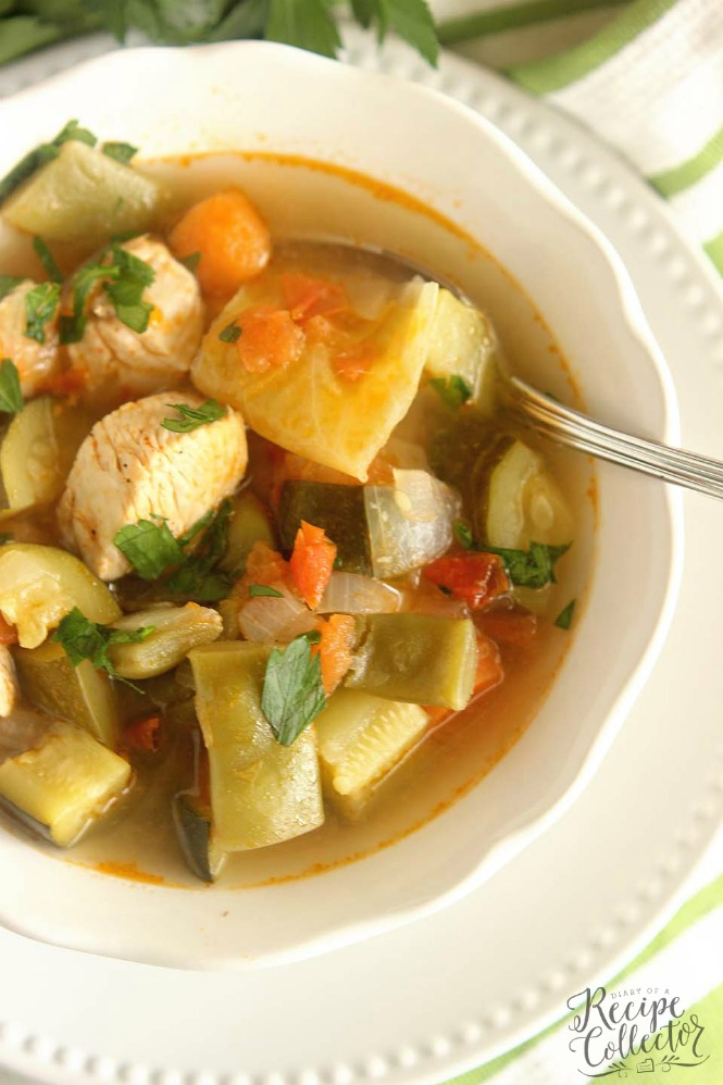 Skinny Chicken Vegetable Soup - Diary of A Recipe Collector