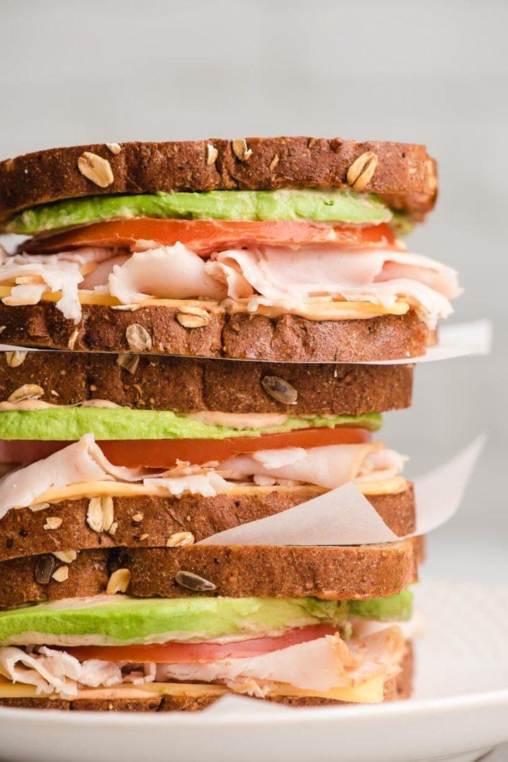 Turkey Avocado Sandwich with Chipotle Mayo