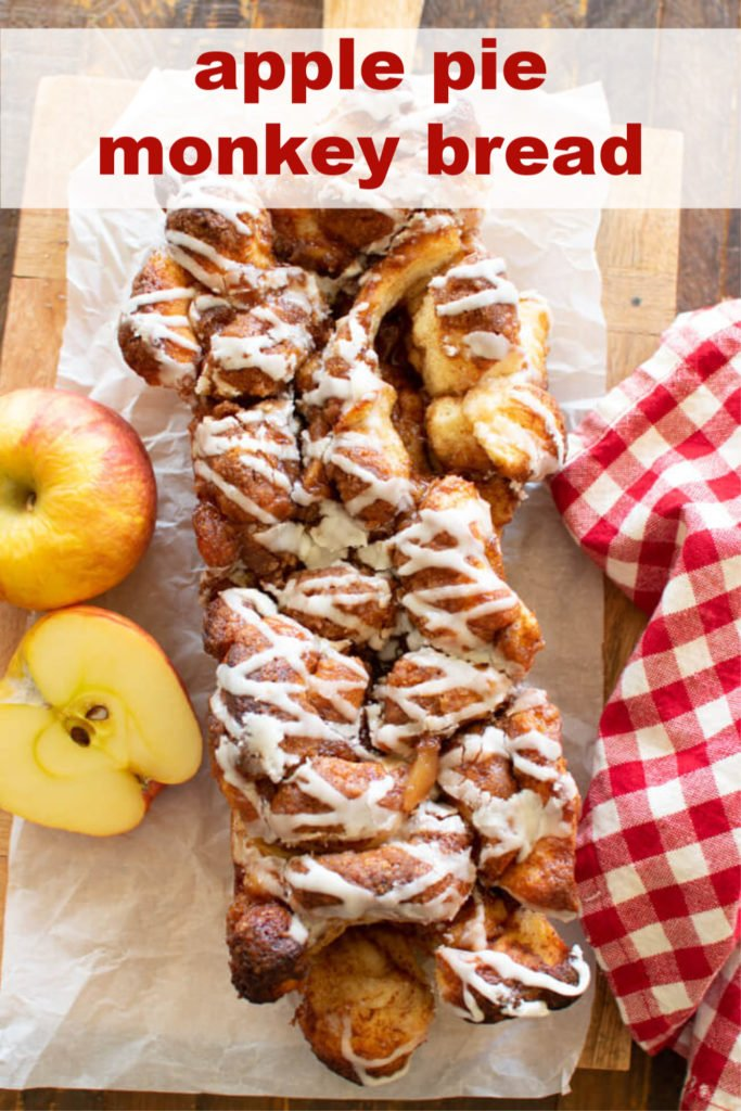 a loaf of apple pull apart bread