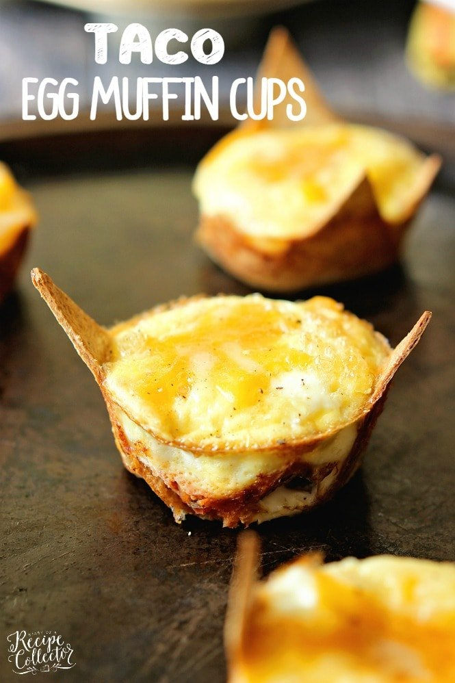 baked eggs in a taco shell muffin cups