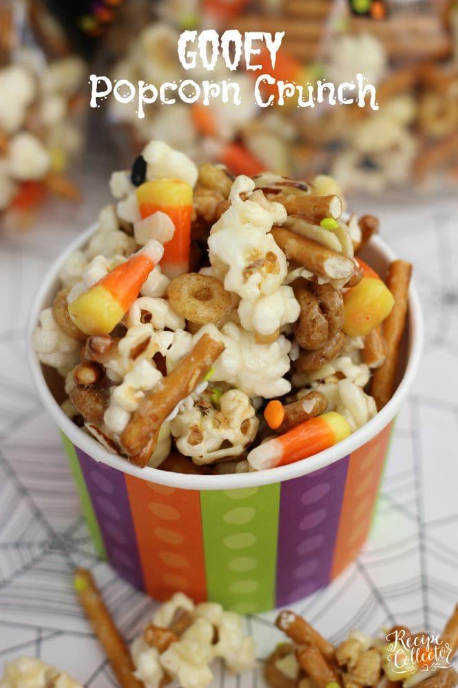 Gooey Halloween Popcorn Crunch