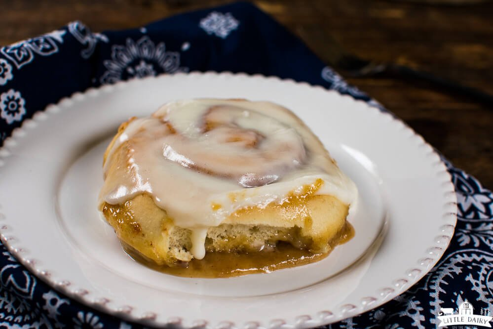 Caramel Rolls with cream cheese icing and creamy caramel sauce