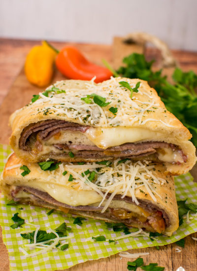 beef stromboli with cheese