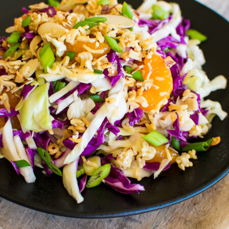 Chinese Coleslaw with onions and oranges