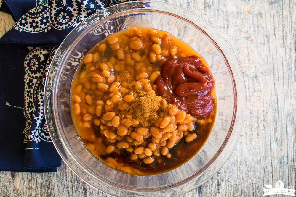 ingredients for making baked beans