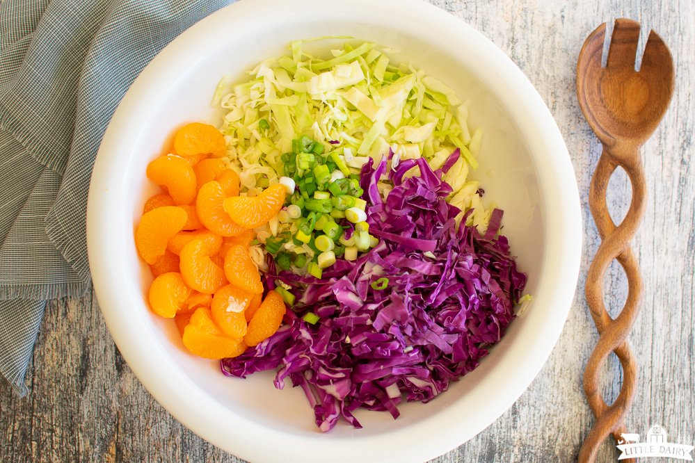 ingredients for making cabbage salad