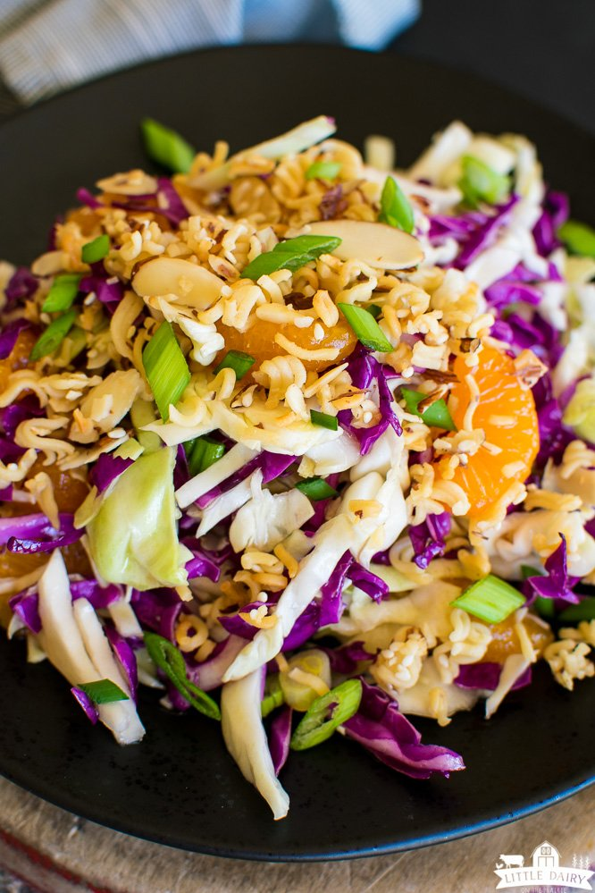 shredded oriental cabbage salad