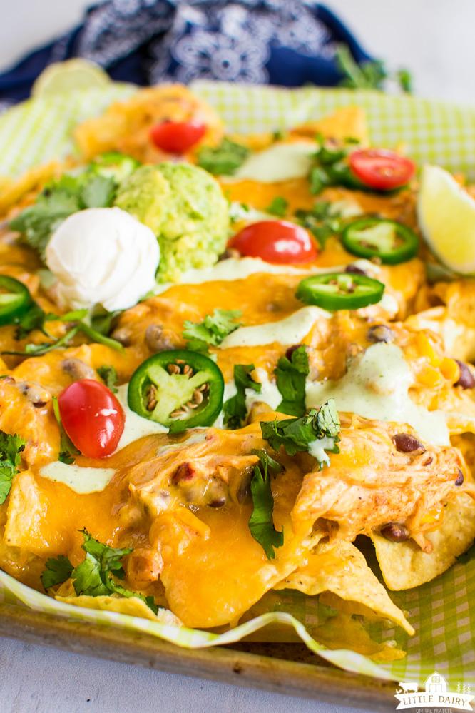 baked chicken nachos with chicken